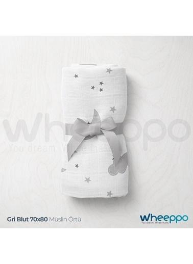 Wheeppo Gri Bulut  Müslin Örtü  70*80 Cm Renkli